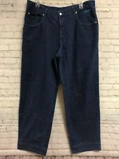 History Iceberg Mens 42X36 Blue Jeans Apollo Pocket Patch Made In Italy