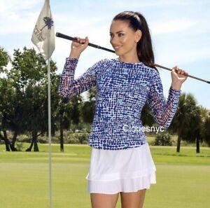 IBKUL Crystal Pleated Skort White XS M L XL Skirt Golf Tennis UPF 50