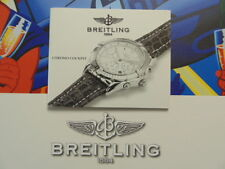 BREITLING PILOT DIVER WATCH INSTRUCTION MANUAL BOOK GUIDE BOOKLET CHRONO COCKPIT