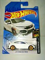2019 Hot Wheels 2018 Honda Civic Type R White GOLD REAL RIDERS SUPER CUSTOM