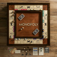 New Monopoly Heirloom Edition w/ Wood Cabinet and Game Board Premium Collectible