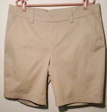 Le Tigre Khaki Short Women Size 18 Beige Flat Front 4 Pocket