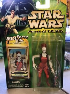 STAR WARS POTJ | POWER OF THE JEDI FORCE FILE | AURRA SING | KENNER 2000