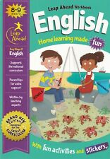 ENGLISH LEAP AHEAD LEARNING WORKBOOK FOR KS2 AGE 8/9 CHILDREN'S EDUCATION HELP