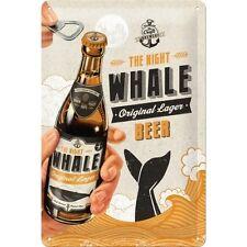 Nostalgie Blechschild - WHALE BEER - Original Lager - Blechschilder