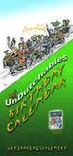 UnDutchables Verjaardag Perpetual Birthday Calendar illustrated, months in Dutch