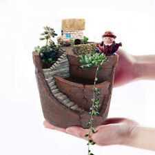 Succulent Plant Mini Flower Pot Resin Bonsai Flowerpot Home Garden Decor Latest