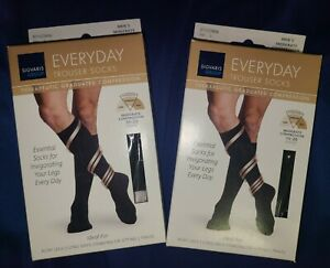 (2)Sigvaris Everyday Trouser Socks Therapeutic Graduated Compression (Large)