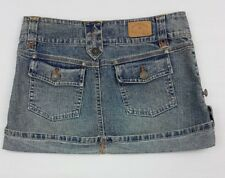 Hydraulic Denim Mini Skirt Ladies/Jrs Size 00 Button Fly