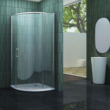 SWALL 90 x 90 x 195 cm Viertelkreis Duschkabine Glas Dusche Duschabtrennung