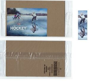 SEALED USPS. History of Hockey. 2 Forever Stamps on Souvenir Sheet.