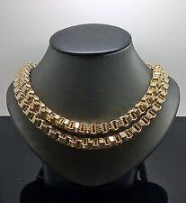 "10K Yellow Gold Men's Byzantine Chain 34"" 10MM, Franco,Cuben,Rope, Box"