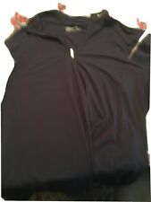 Nike Dri-Fit 1/4 Zip Mock Neck Long Sleeve Shirt Mens Size Large Black