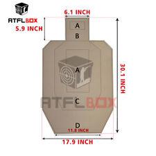 ATFLBOX IPSC Cardboard Torso Combat Paper Shooting Target Pack of 10