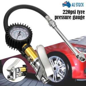 3 in 1 Air Airline Car Tyre Inflator & Pressure Gauge Use with Compressor AUS