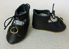 "55mm LEATHER SHOES  for ANTIQUE DOLL , Vintage,  ""Jumeau""  Shoes"
