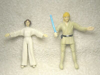 1993 STAR WARS BEND EMS ACTION FIGURE LUKE SKYWALKER & PRINCESS LEIA JUST PLAY