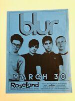 1999 BLUR Original Classic Concert Poster Flyer Britpop NYC 13 Tour Damon Albarn