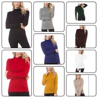 Women Long Sleeve Turtleneck Casual  Tops Knit Sweater Winter T-shirt (S-XL)