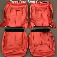 NEW 2013-18 Jeep Wrangler JK Custom Katzkin Cardinal Red Leather Seat Covers
