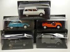 KAS22 LOT de 5 voitures CIVILES 1/24 collection cassés broken models rotos