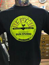 *** New *** 'Sun Records Label' Black T Shirt Elvis Rockabilly 706 Union Avenue