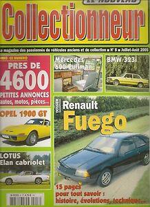 LE NOUVEAU COLLECTIONNEUR 8 RENAULT FUEGO LOTUS ELAN +2 CABRIOLET MERCEDES 600 P