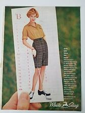 1960 White Stag women's sportswear golf clothing Club shoes ad