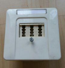 JUNG CD 500 TAE Telefondose NFN  Abdeckung Beschriftung  ST550 WW Alpinweiss