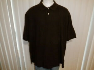 Men's HB Harbor Bay sz 6XL BIG & TALL Brown SS Polo Shirt