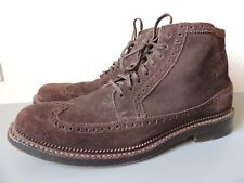 COLE HAAN KENNEDY WINGTIP  Brown Suede Leather Boots Size 11 M