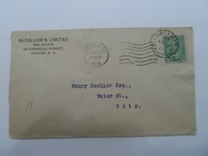 Discount Stamps : CANADA 1911 SC#89 1c KING EDWARD VII STAMP LOCAL USED COVER