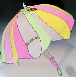 Kidorable Lotus Flower Umbrella for Girls with Pop-Up Bee Wing