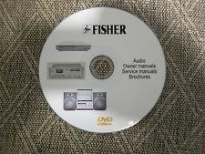 Fisher Audio Repair Service Schematics manuals on 1 dvd in pdf format