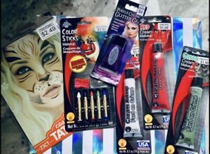 Costume Makeup and Face Painting Bundle for Halloween Costume