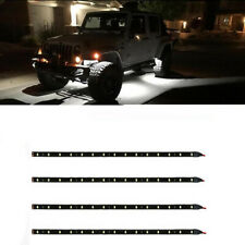"6pcs flexible 0.9w 15 LED Strip Waterproof Underbody Light with 6"" wires  DC 12V"