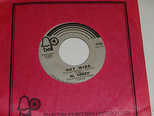 AL GREEN Hot Wire / Don't Leave Me 45 Bell 45,305 (1972) VG+ soul