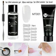 Mtssii 4Pcs/Set Poly Nail Gel Acrylic White Uv Builder Nail Tips Slip Solution