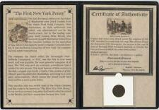 First New York Penny : VOC Copper Duits Album