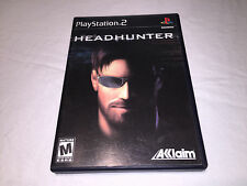 Headhunter (Playstation PS2) Original Release Game Complete Vr Nice!