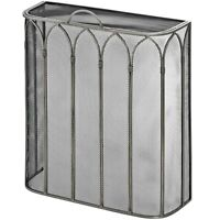 Gothic Style Antique Pewter Fire Guard Screen Surround