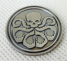 COOL AGENTS OF SHIELD BADGE HYDRA COIN SHIELD COIN METAL  DOUBLE SIDED