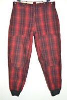 vtg 60s WOOLRICH WOOL BUFFALO PLAID LINED WARM WINTER HUNTING PANTS 34 x 30