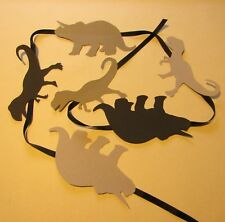 Dinosaur bunting monochrome boys bedroom garland hanging decor