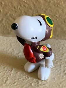 1966 Vintage Peanuts Snoopy Flying Ace Pilot United Feature Figure NWOB