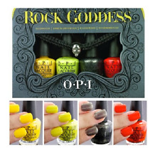 OPI 4pc ROCK GODDESS Halloween MINI Nail Polish Yellopalooza LIME Bones DRUMMER