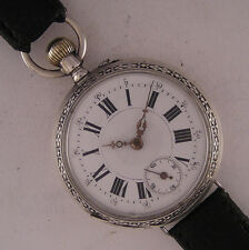 Early Cylindre '1890 Original Swiss Gent's SILVER Wrist Watch A+ Serviced