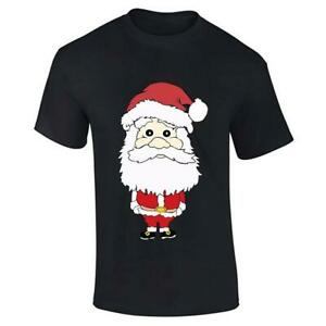Mens Santa Claus Printed T Shirt Novelty Boys Christmas Short Sleeve Cotton Tee