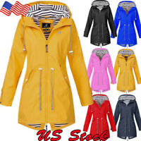 Women Outdoor Jacket Waterproof Wind Jacket Solid Color Forest Jacket Raincoat