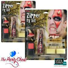 DEVIL ZIPPER FACE FX HALLOWEEN HORROR MAKEUP KIT Scary Evil Zip Special FX 5609D